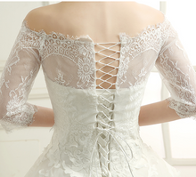 Load image into Gallery viewer, Elegant Off Shoulder Bridal Lace Bolero - BCW accessories