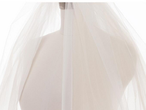 White Bridal veil, 4 layers soft, Fluffy veil, wedding veil - BCW accessories