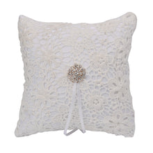 Load image into Gallery viewer, Lace Ring Pillow