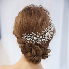 Load image into Gallery viewer, Bridal Headdress Pearl  Silver