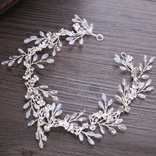 Load image into Gallery viewer, Crystal Beads Bridal Wedding Hair Vine Silver