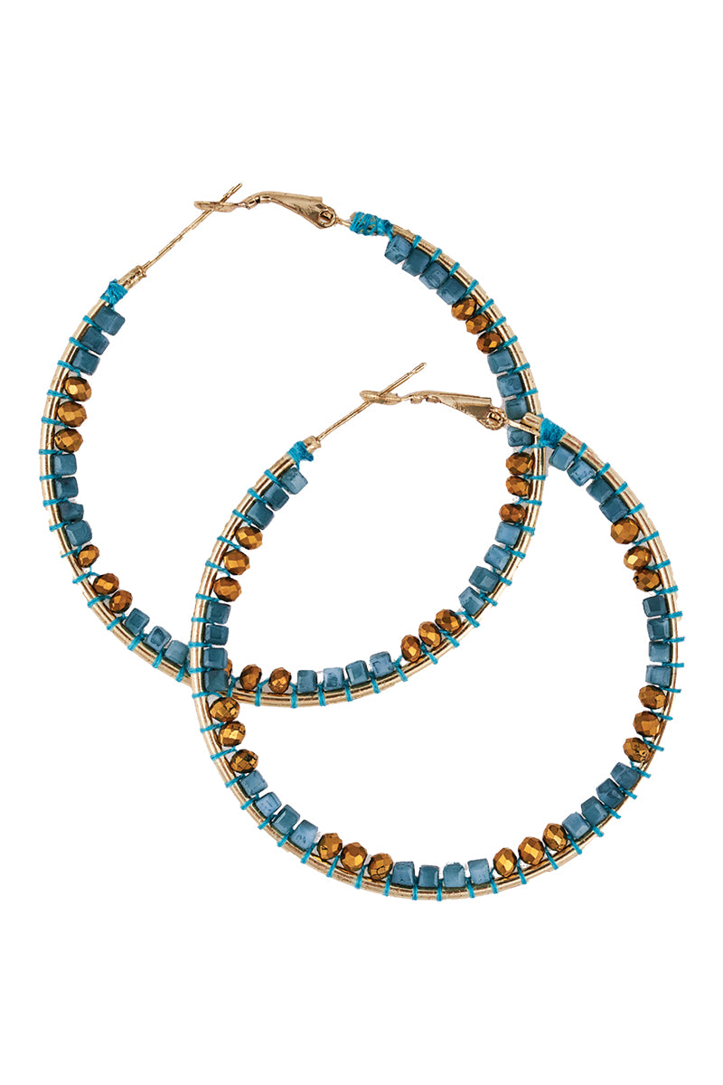 Panzi Beaded Hoop