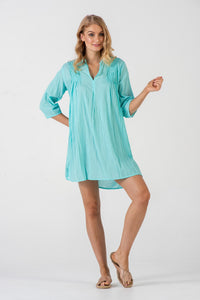 Naudic Kasbah dress available in three colours 100% cotton
