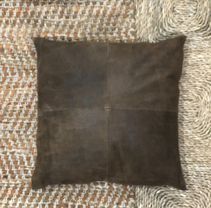 Vintage leather cushion - Chestnut (300 x 300)