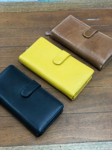 Gorgeous leather purses available in three colour ways