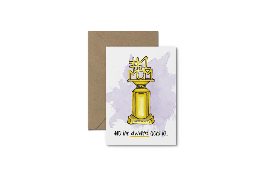 #1 Mom Award! Mother's Day Card