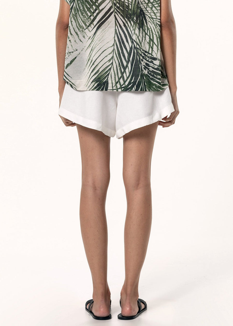 Lenco Pleated Linen Shorts - South of London
