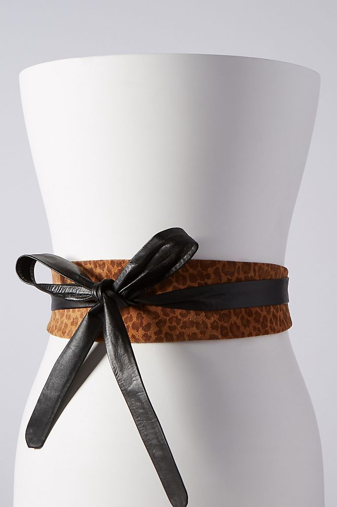 Tan Leopard Wrap Belt - South of London