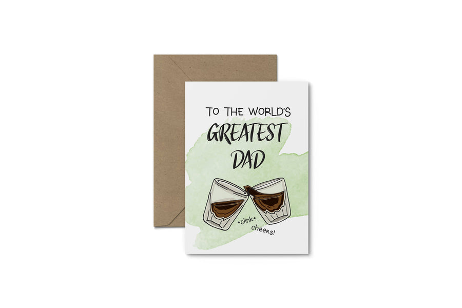 World's Greatest Dad! Father's Day Card - South of London