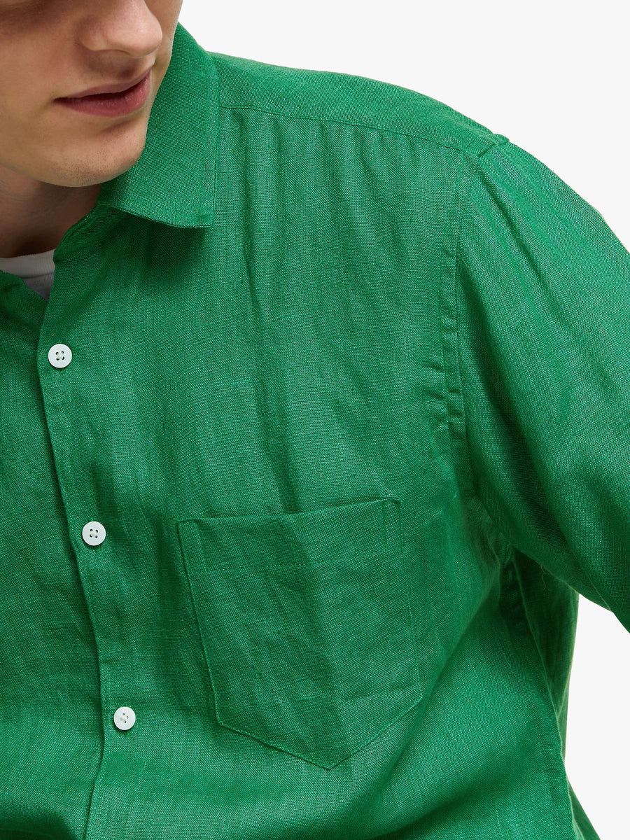 Classic Bottle Green L/S Shirt - South of London
