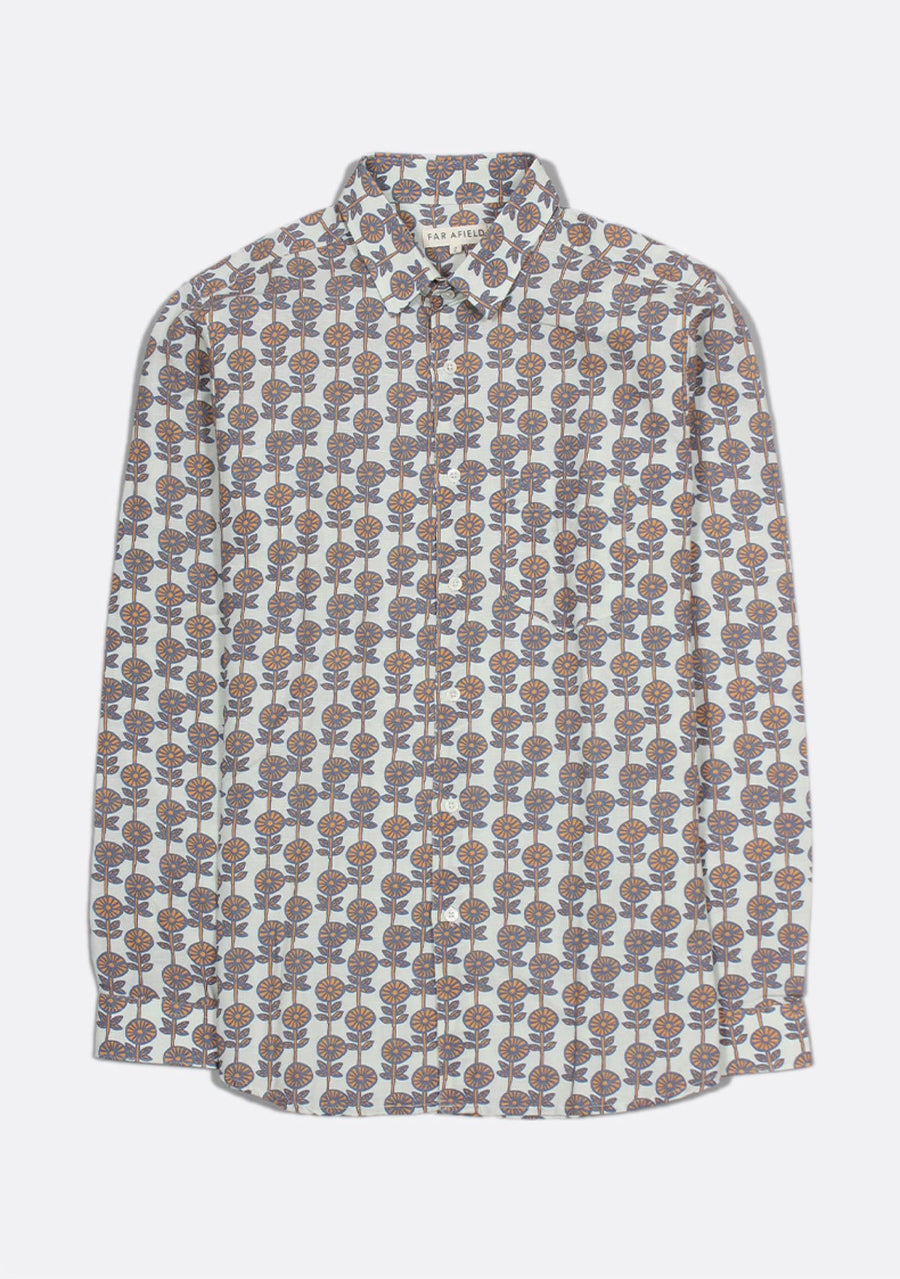 Flora Linen Classic Shirt - South of London