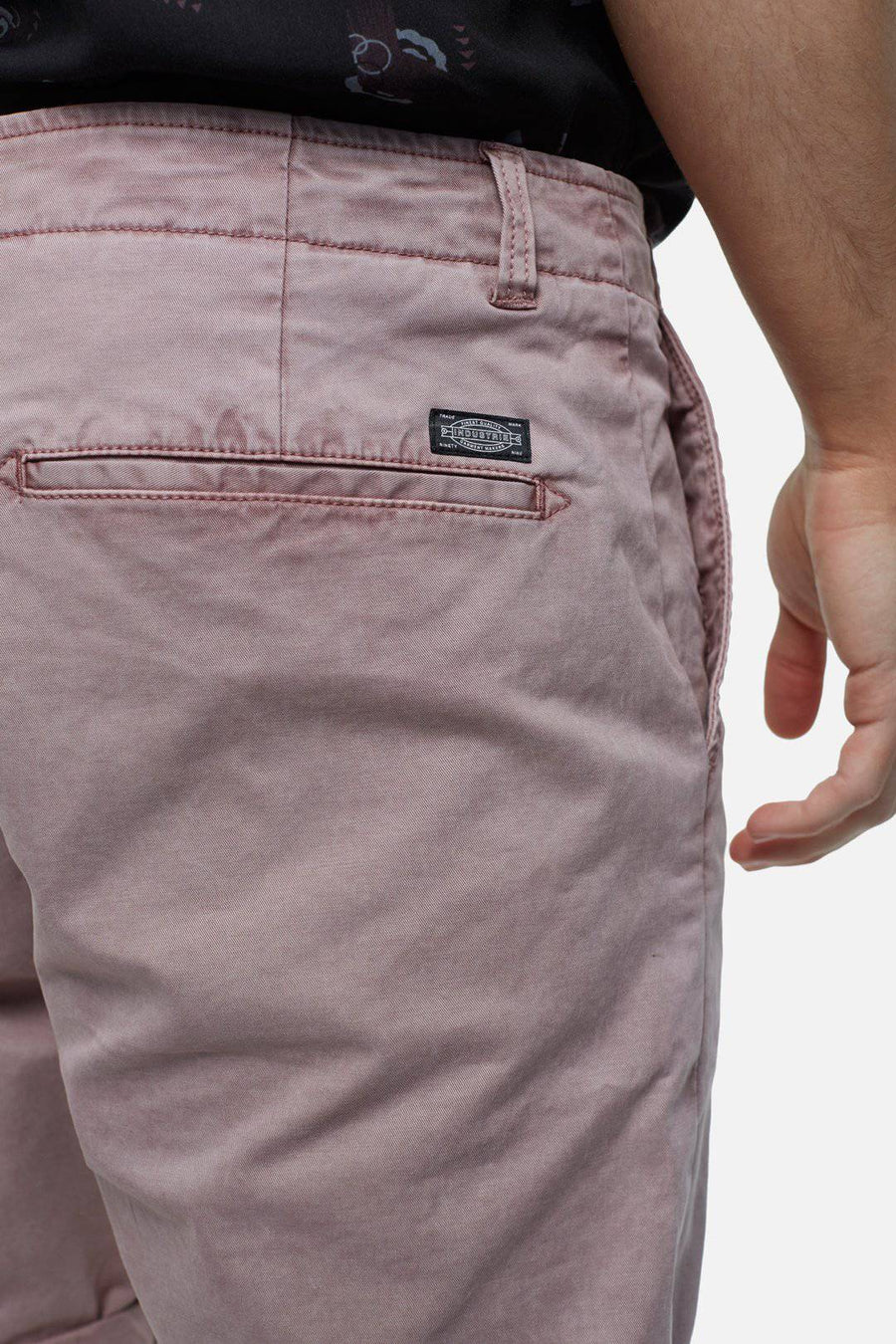 Mauve Washed Rinse Shorts - South of London