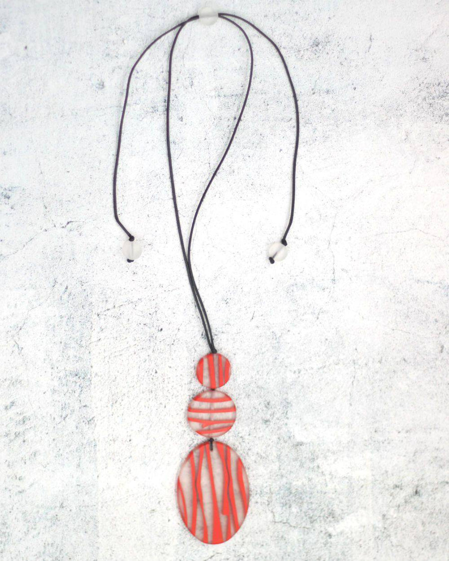 Painted Red Neckpiece - South of London