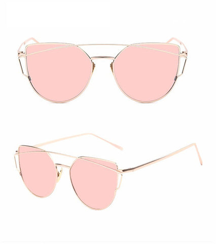 womens sunglasses, cat-eyed sun glasses, pink lenses sunglasses