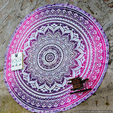 pink mandala beach throw, pink mandala beach towel