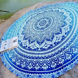 blue mandala beach throw, mandala beach towel