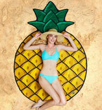 pineapple beach throw, pineapple beach towel