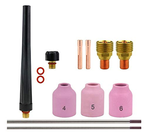 Consumables Kits for 9-20-25 Series TIG Torches - Gas Lens Set-Up