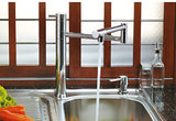 Sanipro Single Lever Swivel Arm Kitchen Faucet - Series: Mimas