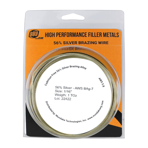 "SÜA - Silver Brazing Solder Wire - 56% - AWS BAg-7 - Size: 1/16"" (1, 3 or 5 TOz)"