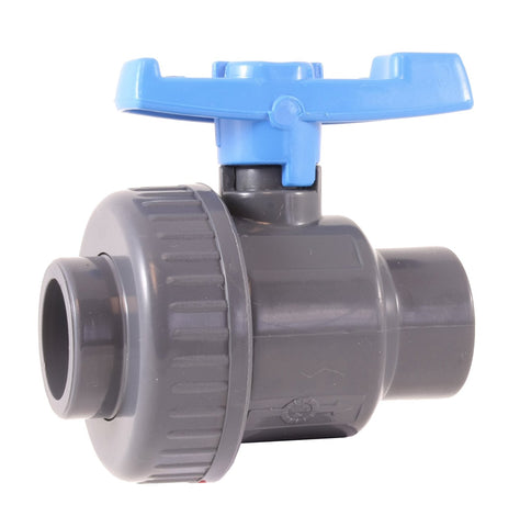 "PVC SINGLE UNION BALL VALVE 1/2"" - Socket"