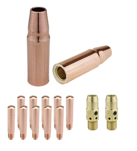 MIG Gun Consumables Kit - Compatible with Lincoln/Magnum 300 & 400 and Tweco #3 & #4-54A Diffuser - Heavy-Duty Tip - 23 Nozzle