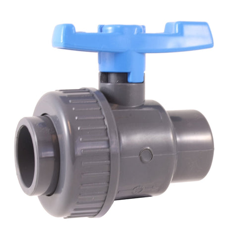 "PVC SINGLE UNION BALL VALVE 3/4"" - Socket"