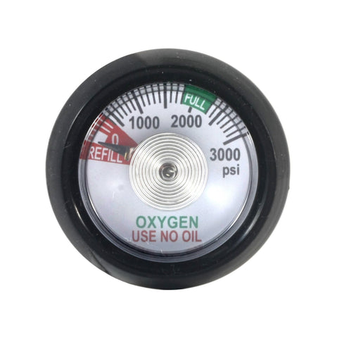 Gauge for Oxygen Click-Style Regulator 0-3000 psi