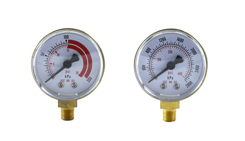 "2 inches - 1/8"" Thread - GAUGES - ACETYLENE"
