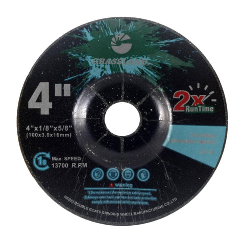 "Flexible Grinding Wheel for Steel/Stainless Steel - Depressed Center - 4"" x 1/8"" x 5/8"" - T42 - GRIT 46"