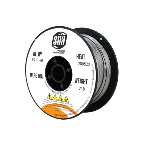 E71T-GS - Fluxcored MIG Wire - GASLESS - 2 Lb