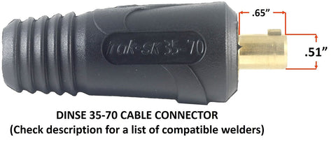 LC40 Connector 15 FEET EACH LEAD #1 AWG cable 300 Amp Welding Leads Set