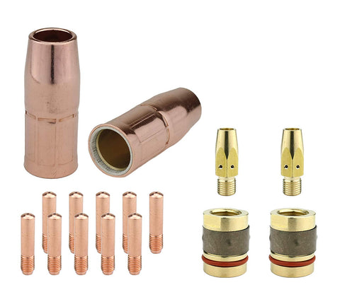 "MIG Gun Consumables Kit - Compatible with Miller M-25 and M-40 - Diffuser - Nozzle Adaptor - Tip: 0.023"" - Nozzle"