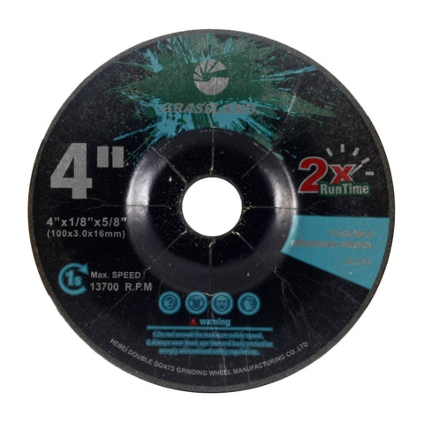 "Flexible Grinding Wheel for Steel/Stainless Steel - Depressed Center - 4"" x 1/8"" x 5/8"" - T42 - GRIT 80"