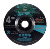 "Flexible Grinding Wheel for Steel/Stainless Steel - Depressed Center - 4"" x 1/8"" x 5/8"" - T42 - GRIT 60"