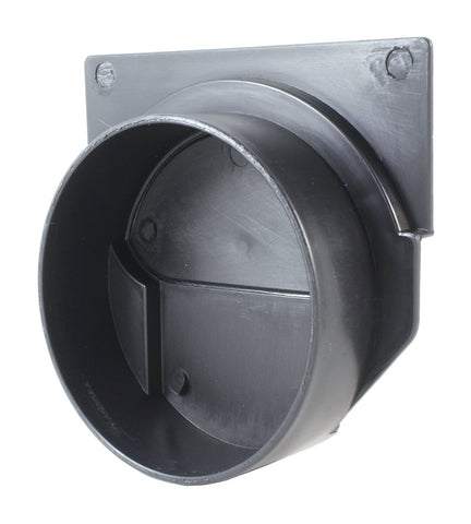 End Outlet Connector for Black Plastic Drain UA-100 Series