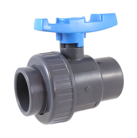 "PVC SINGLE UNION BALL VALVE 1-1/2"" - Socket"