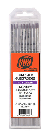 SÜA - Tri-Element Tungsten Electrode - TIG Welding - (Purple Tip) - (10 PACK)