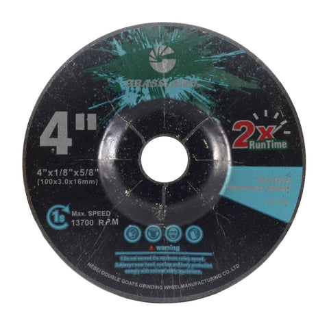 "Flexible Grinding Wheel for Steel/Stainless Steel - Depressed Center - 4"" x 1/8"" x 5/8"" - T42 - GRIT 120"