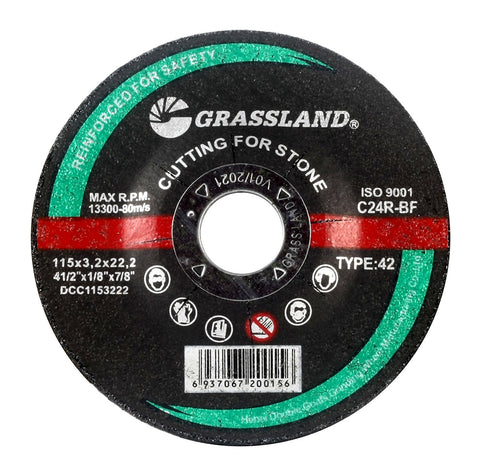"Cutting Disc, Concrete/Masonry/Stone Freehand Cut-off wheel - Depressed Center - 4-1/2"" x 1/8"" x 7/8"" - T42"