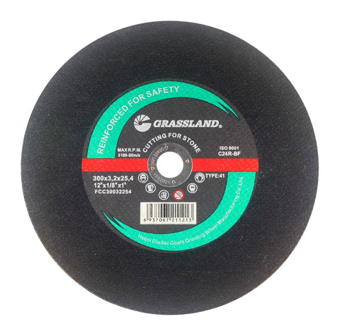 "Cutting Disc, Concrete/Masonry/Stone Cut-off Wheel for Chop Saw - 12"" x 1/8"" x 1"" - T41"