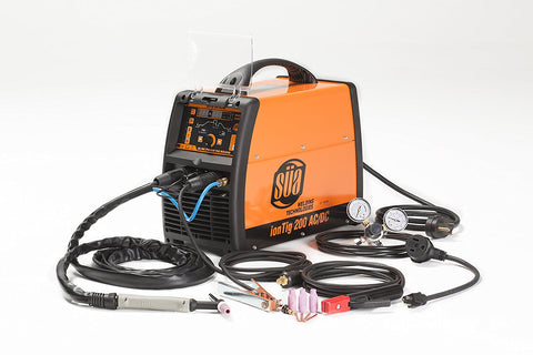 SÜA ionTig 200 TIG Welder AC/DC Pulsed High Frequency, 220 V, Generator Friendly