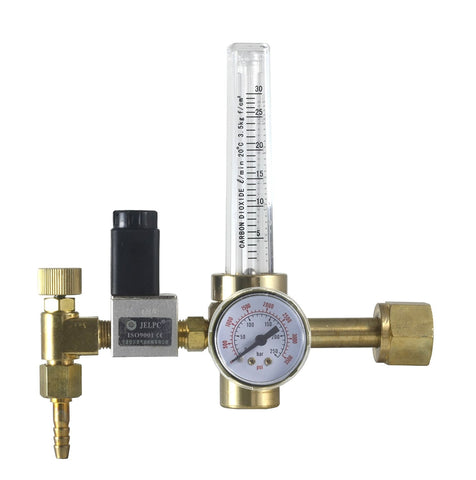 Hydroponics CO2 Flowmeter Regulator with Automatic Open/Close Selenoid Valve