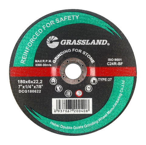 "Grinding Disc, Concrete/Masonry/Stone Grinding wheel - 7"" x 1/4"" x 7/8"" - T27"