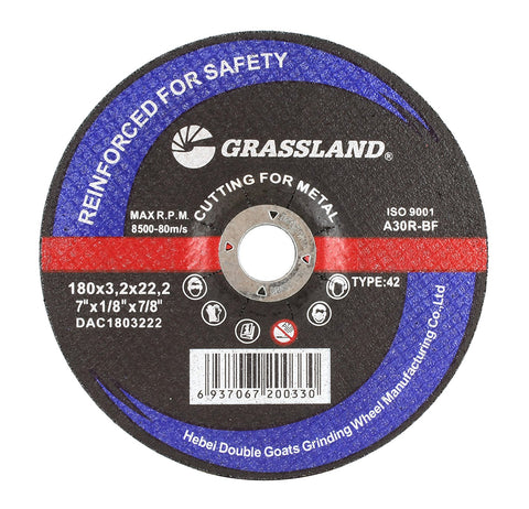 "Cutting Disc, Steel Freehand Cut-off wheel - Depressed Center - 7"" x 1/8"" x 7/8"" - T42"