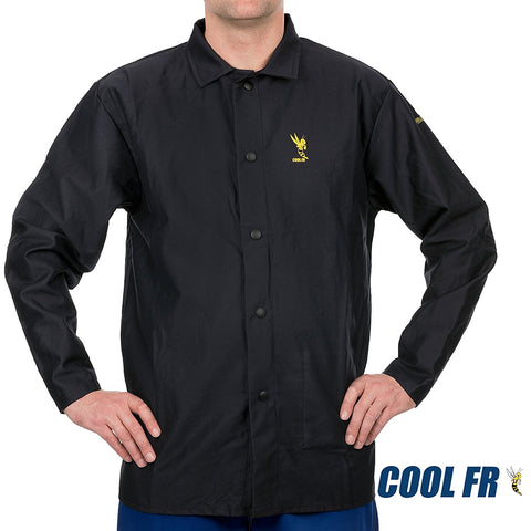 Weldas COOL FR Welding/Fire Retardant/Dielectric Jacket - Cotton Navy Blue