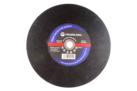 "Cutting Disc, Steel Cut-off Wheel for Chop Saw - 14"" x 1/8"" x 1"""
