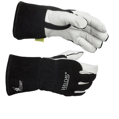 (5 PAIRS) Weldas Arc Knight MIG/Stick Welding Glove - Kevlar Sewn - 100% Cotton Lining - (5 PAIRS)