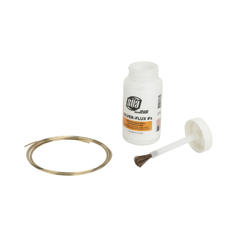 "SÜA Silver Brazing Solder Wire - 45% - AWS BAg-5 - Size: 1/16"" + 6.5 Oz Flux"