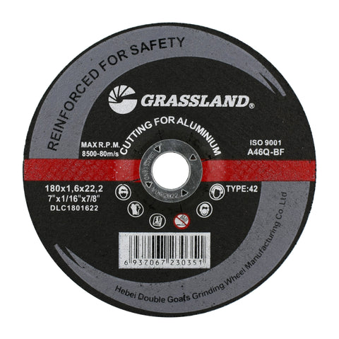 "Cutting Disc, Aluminum Freehand Cut-off wheel - Depressed Center - 7"" x 1/16"" x 7/8"" - T42"